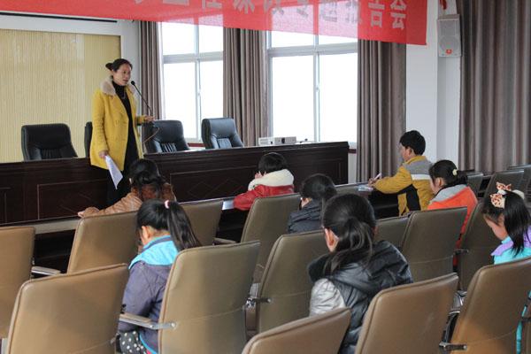 民权县外国语学校举办汉字听写大赛